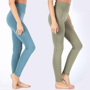 Pants - High Waist Leggings with Tummy Control